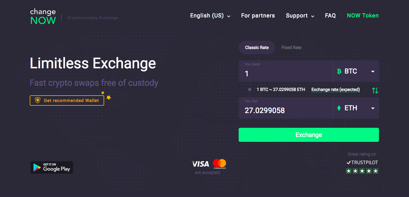 changenow crypto exchange