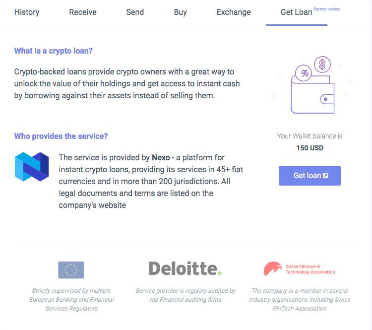 cryptocurrency loan