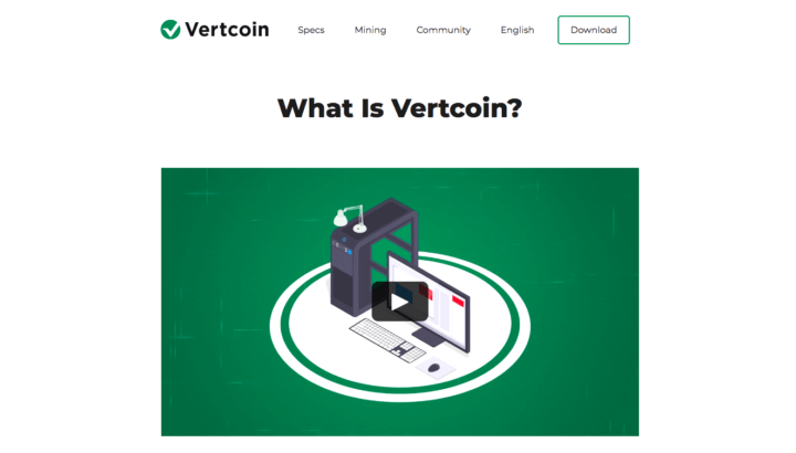 Vertcoin cryptocurrency