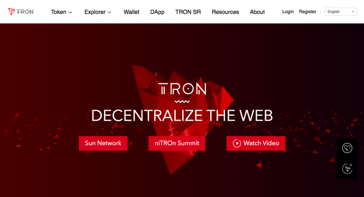 TRON Official website