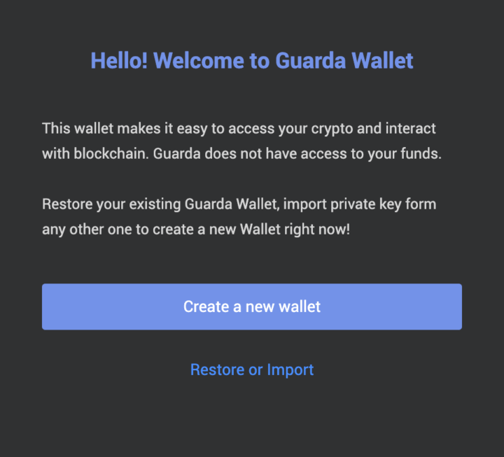 Step 2 – Create a new wallet