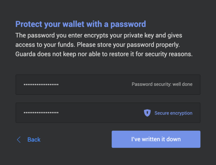 Step 3 – Create Secure Password